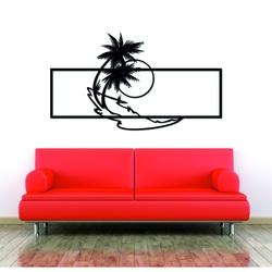 Moderný obraz na stenu palma z drevenej preglejky