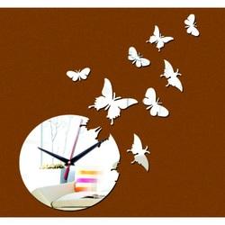 Nástenné hodiny zrkadlové motýle. MORIS