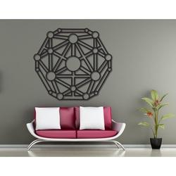 Geometrický obraz na stenu vyrezávaný z drevenej preglejky