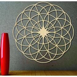 Čarovná drevená mandala na stenu - Kruhy I priemer FI 50, 60, 70, 80, 90, cm